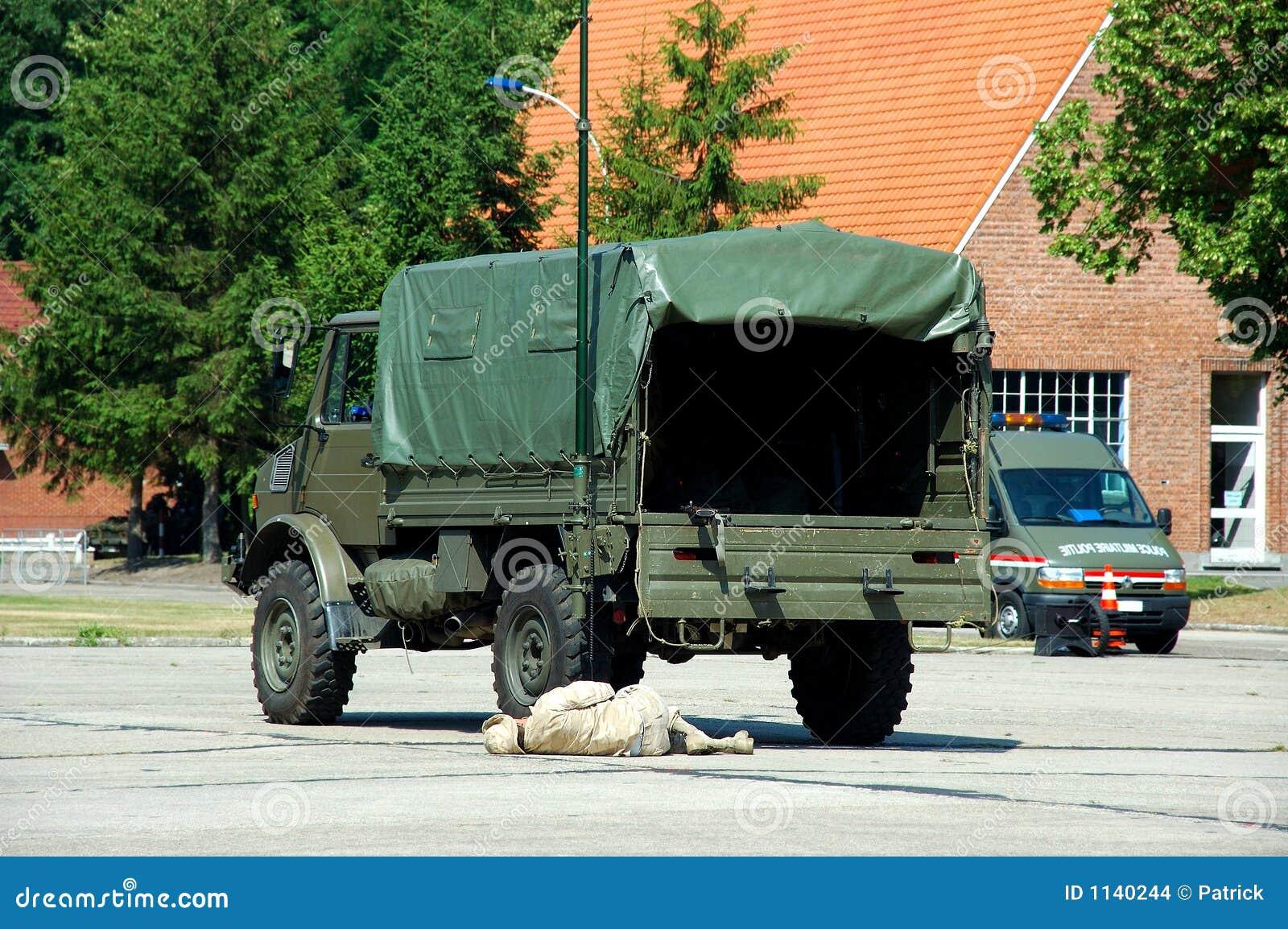 Intervention militaire, victime