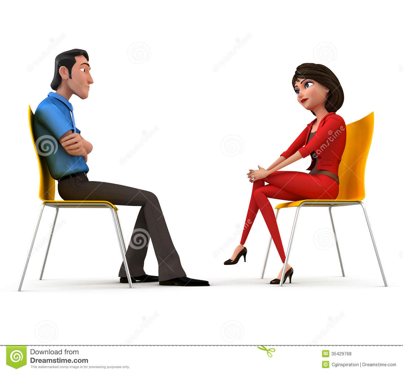 Interview Stock Illustration Image Of Chance