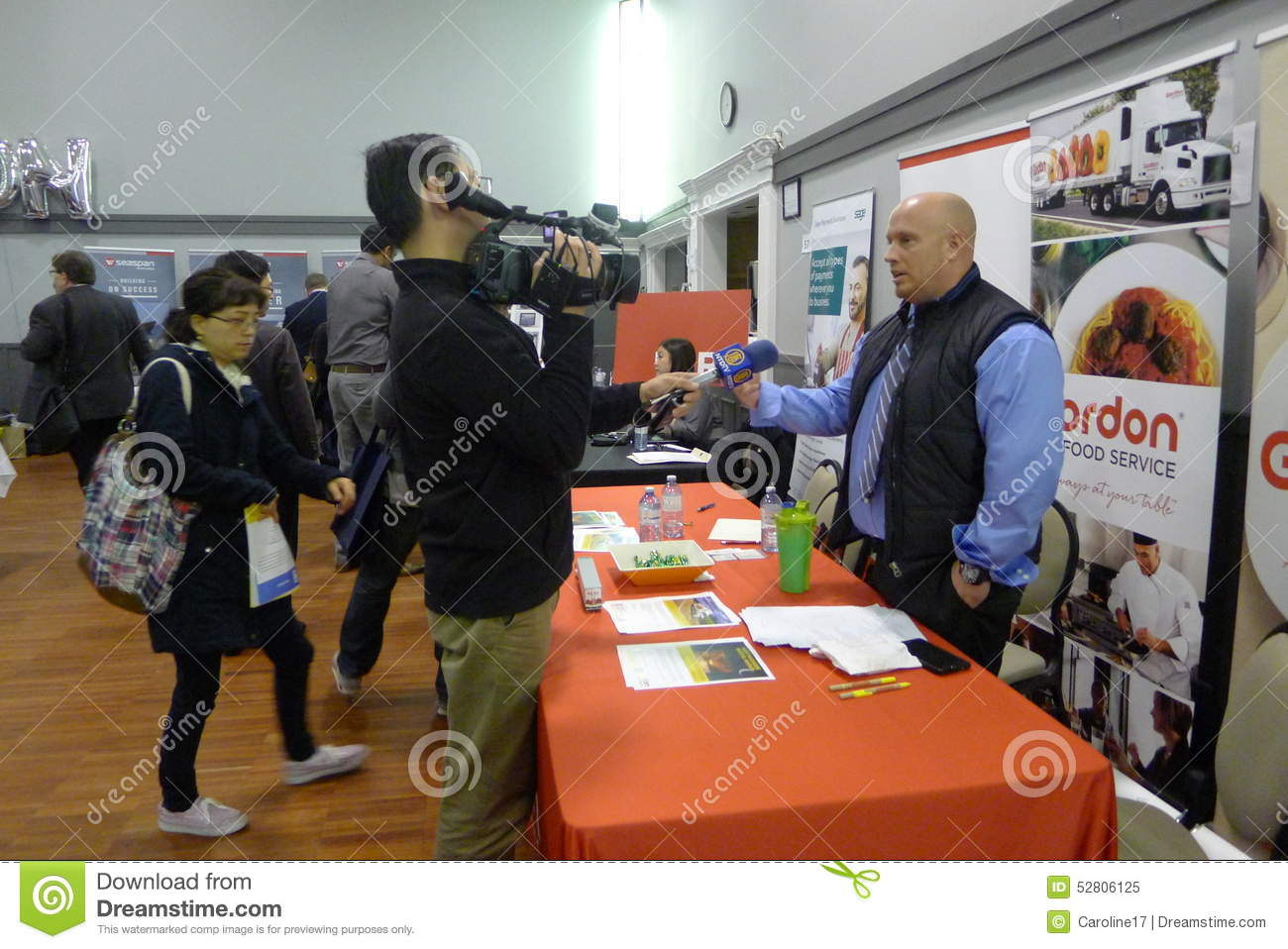 Interview At The Job Fair In Vancouver Editorial Image Image Of Inquire Organization 52806125