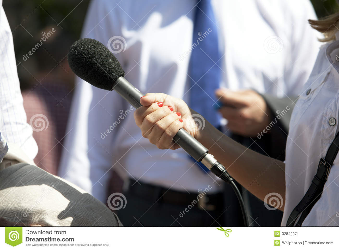 Download Interview stock image. Image of person, broadcast, conference - 32849071