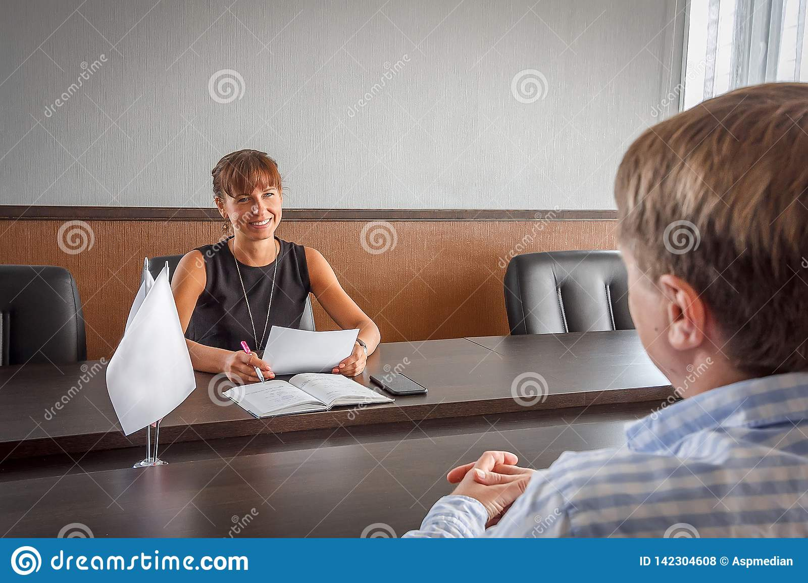 Interviews when applying for a job in the office