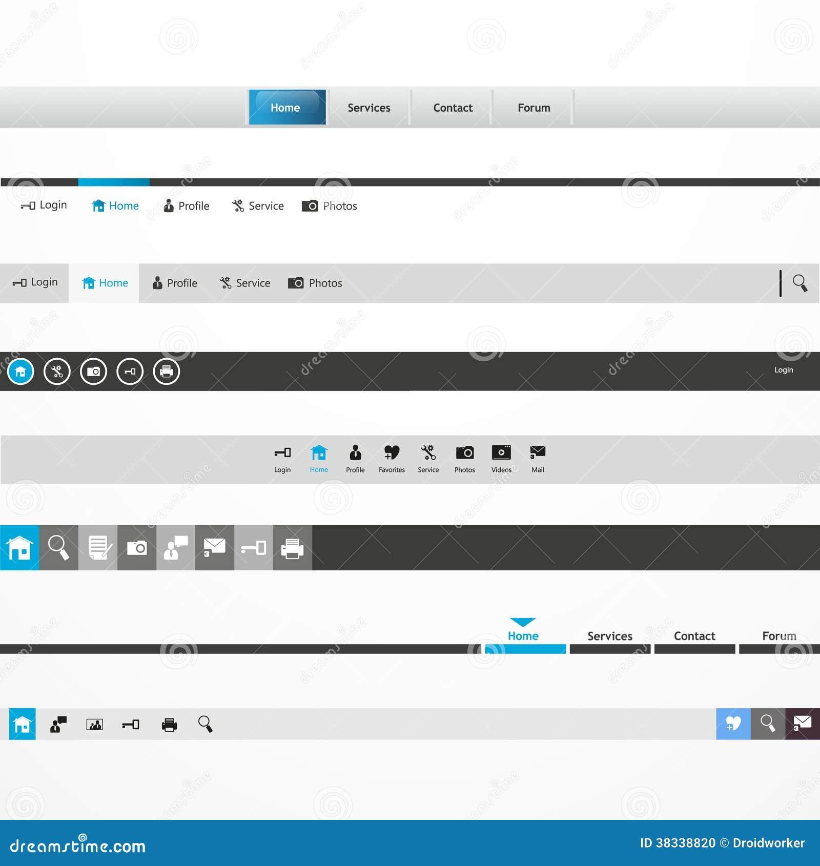 Intestazione del sito web di antivari di navigazione del for Sito web design piano piano