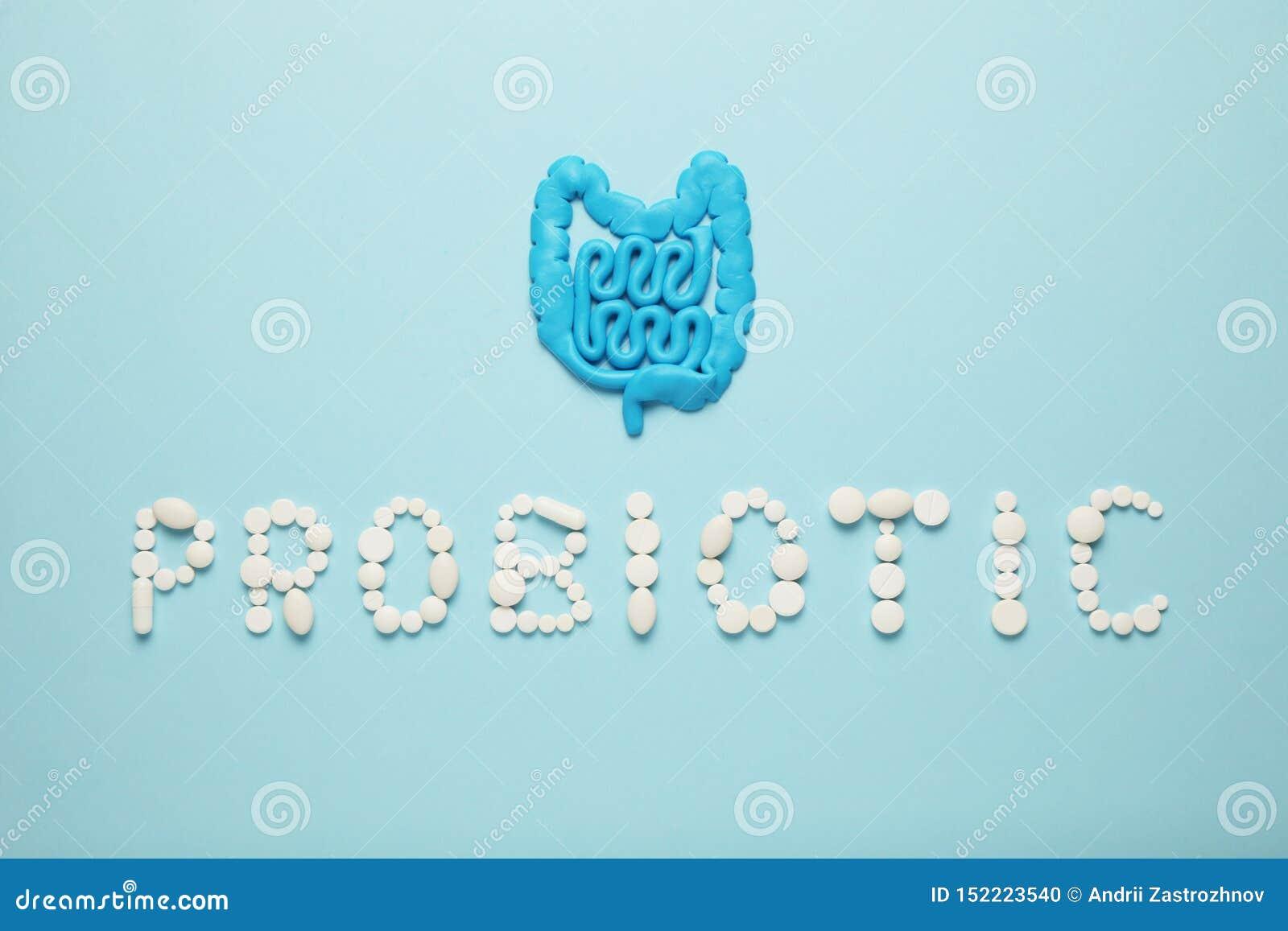 Intestinos e comprimidos, probiotics, antibi?ticos Estripe a prote??o, a recupera??o da doen?a e o tratamento