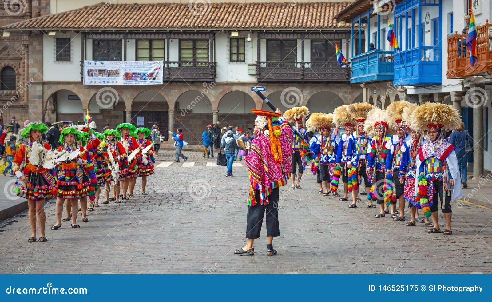 Inti Raymi świętowanie w Cusco, Peru