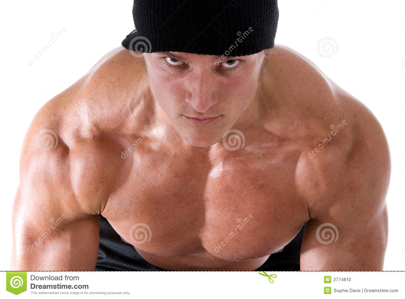 Intimidating muscle man