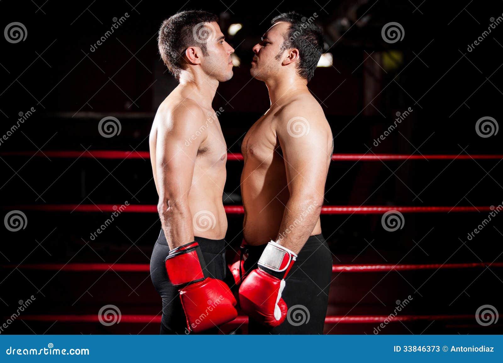Intimidation avant un combat