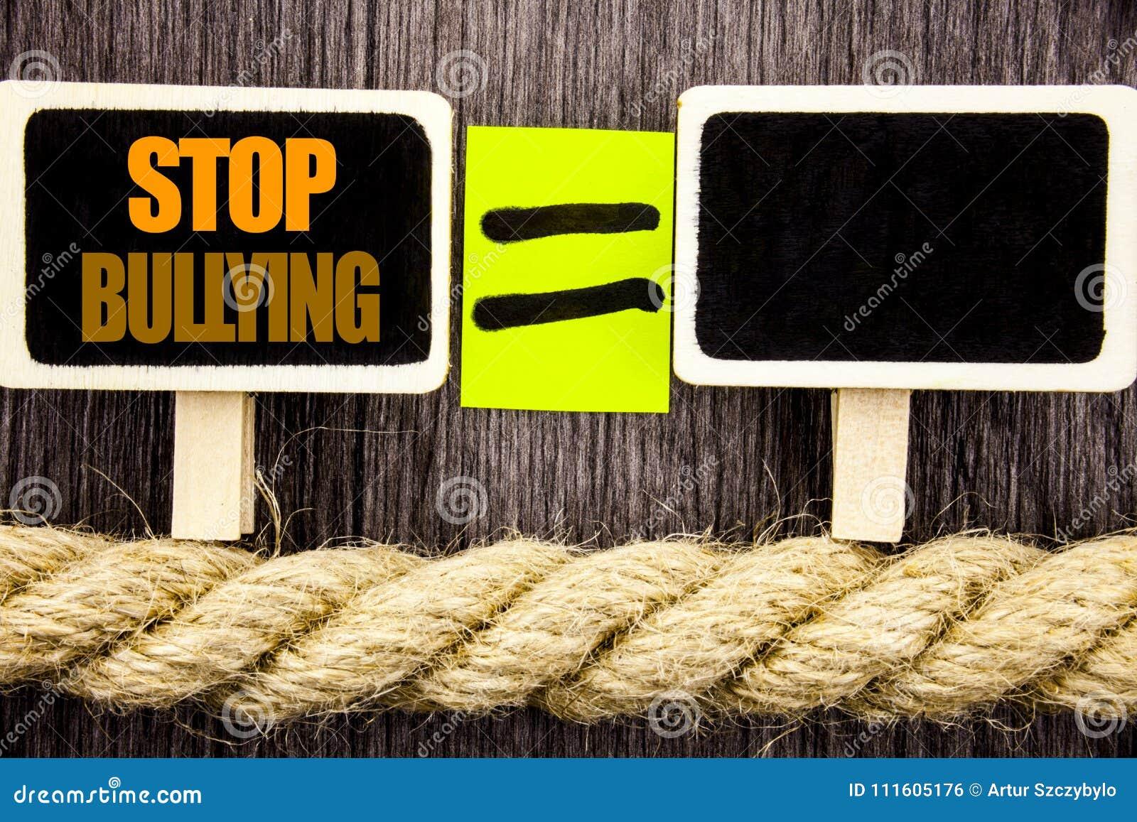Intimidation d arrêt d apparence de Ttext Concept d affaires pour le problème de conscience au sujet du problème de despote d abu
