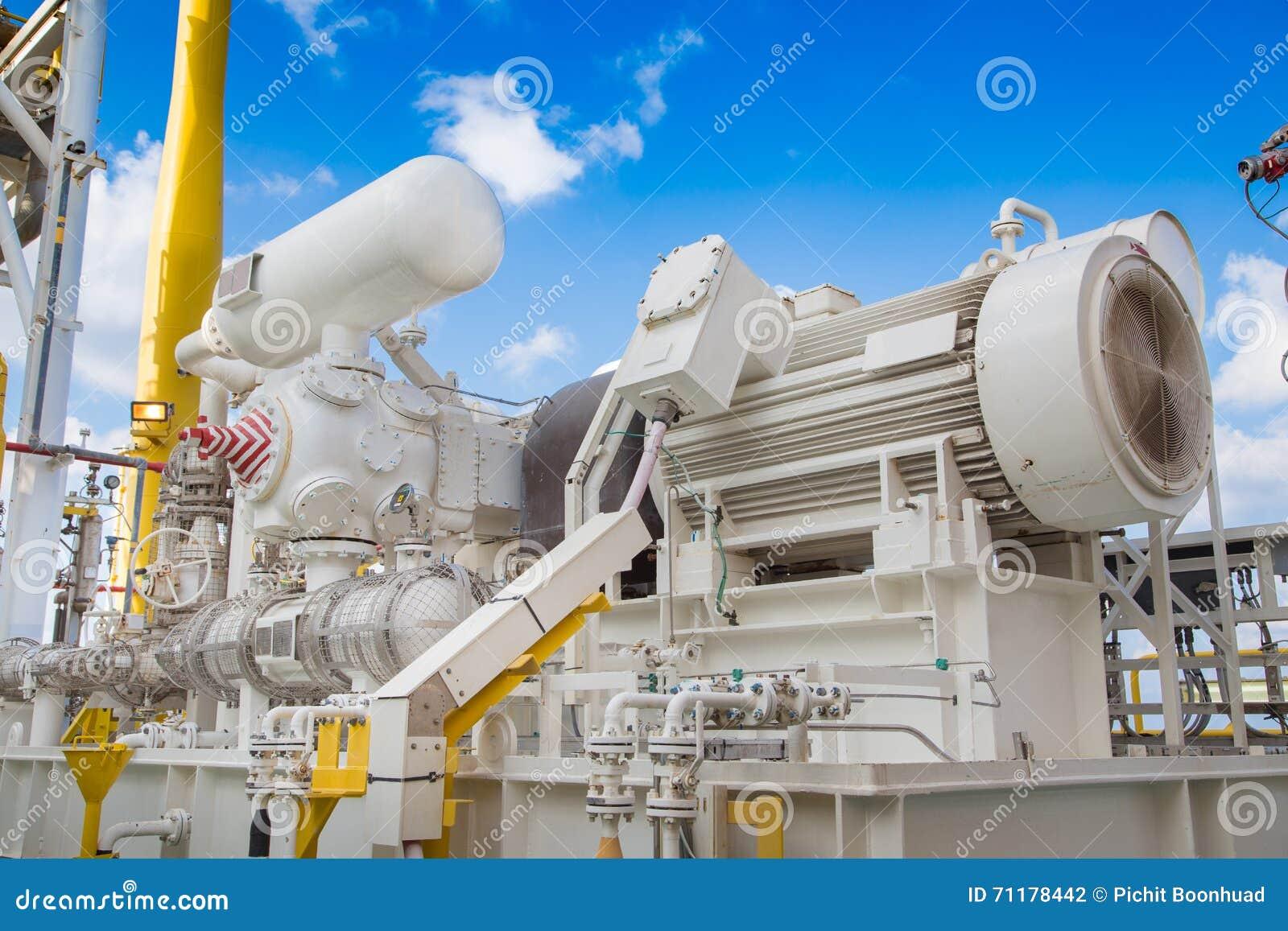 Intossichi il compressore del ripetitore nell unità di recupero del vapore della piattaforma del gas e del petrolio