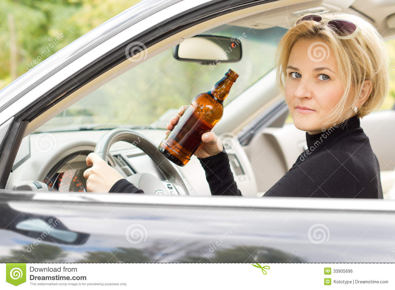 Intoxicated Woman Driver Royalty Free Stock Image Image 33905696