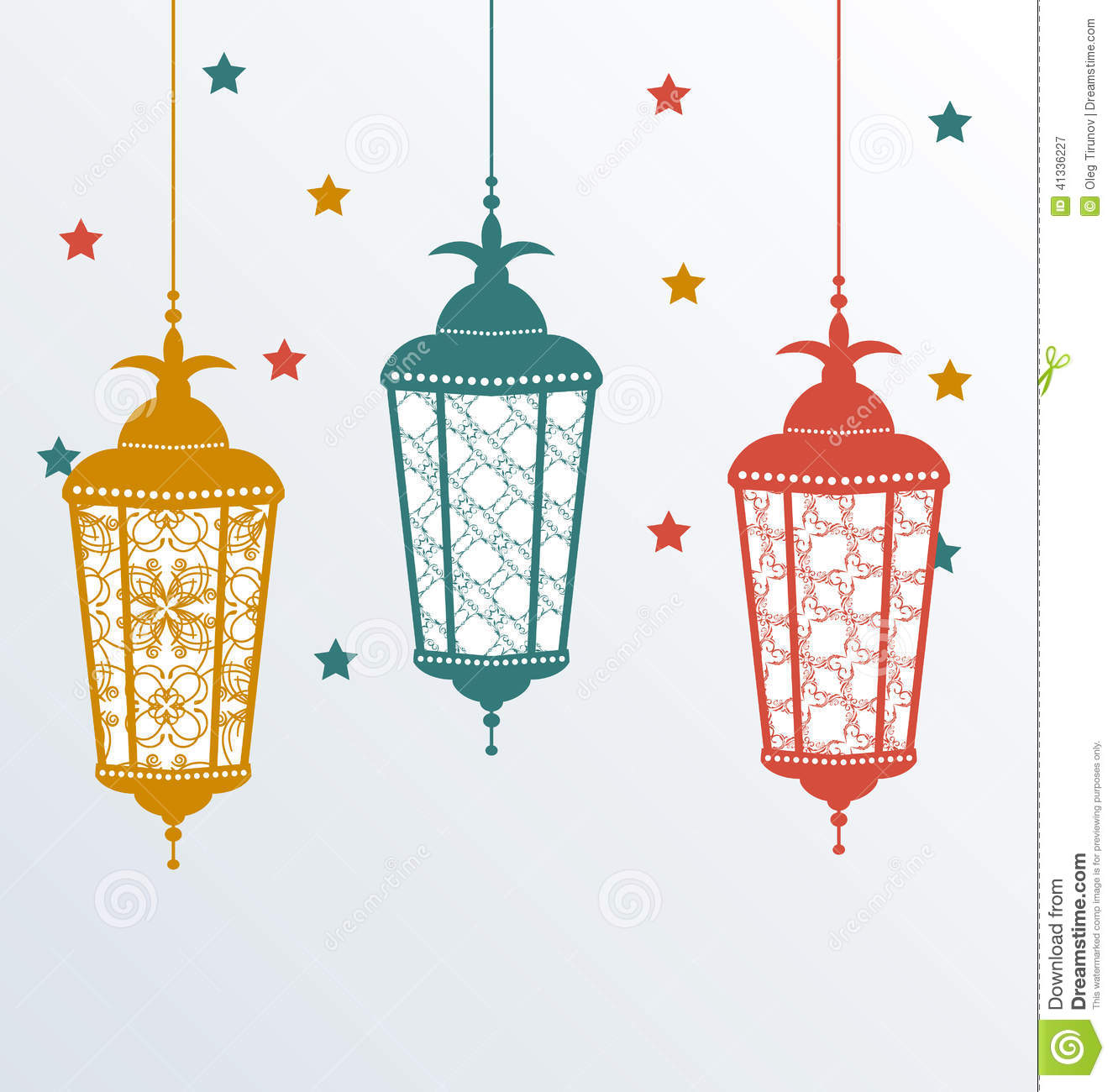 Intricate Arabic Lamps For Ramadan Kareem Stock Vector - Image ...