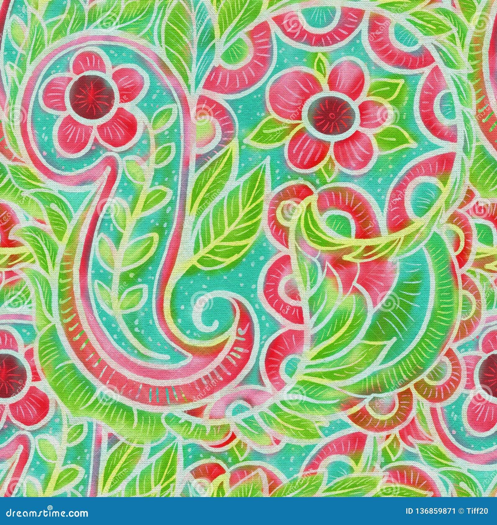 The Intricate Batik Pattern Stock Illustration
