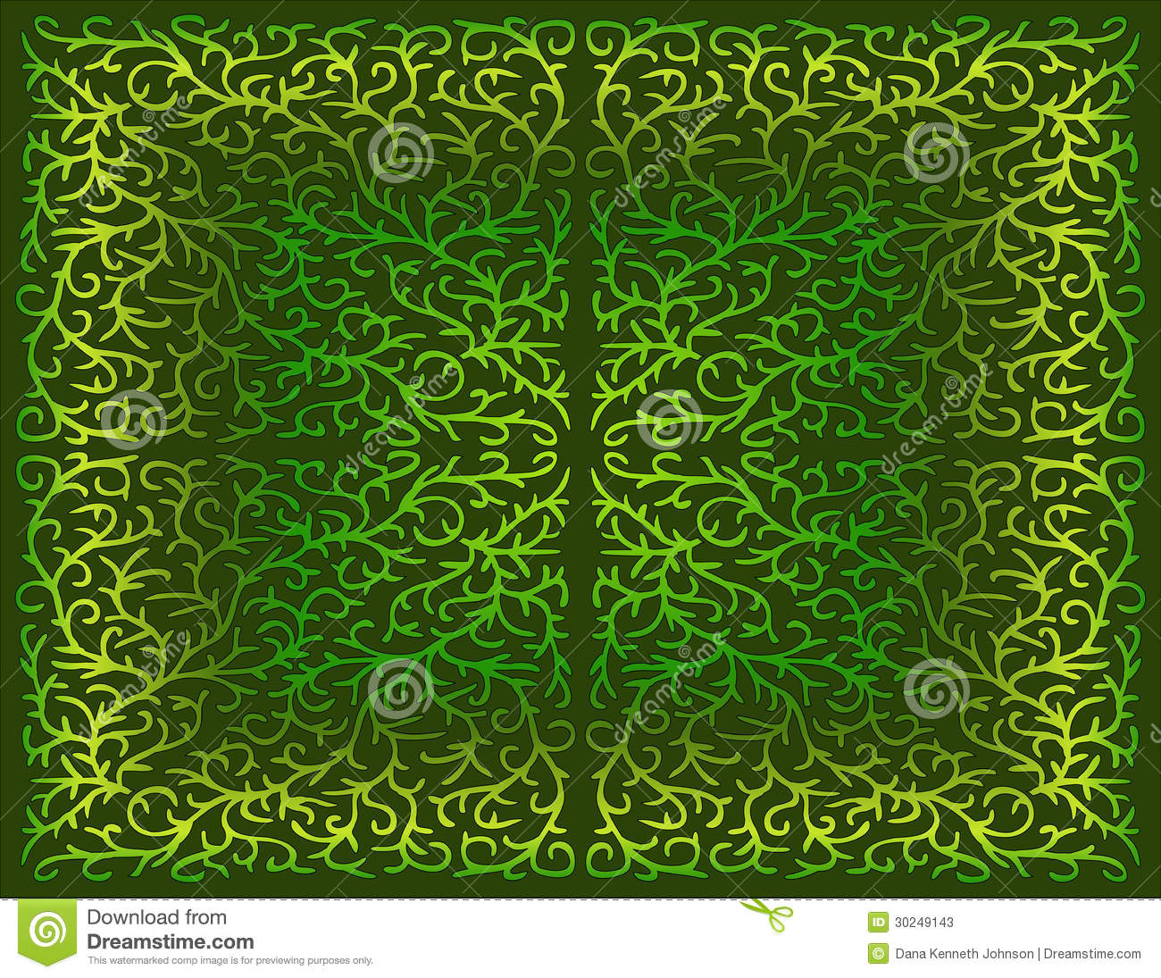 filigree design in shades of green stock photos image 30249143