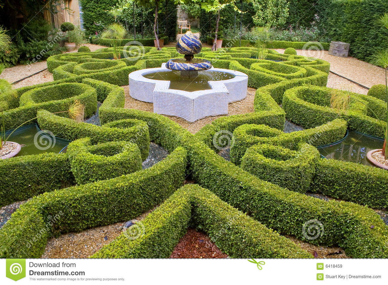 Download Intricate knot garden stock image. Image of garden, england - 6418459