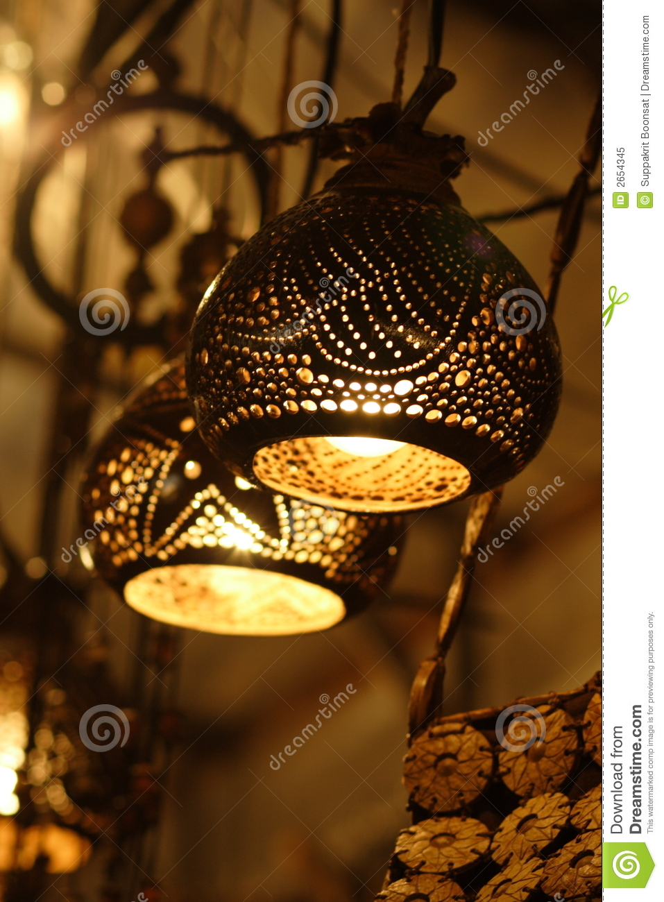Intricate Lampshades Stock Image Image Of Decor Lamps