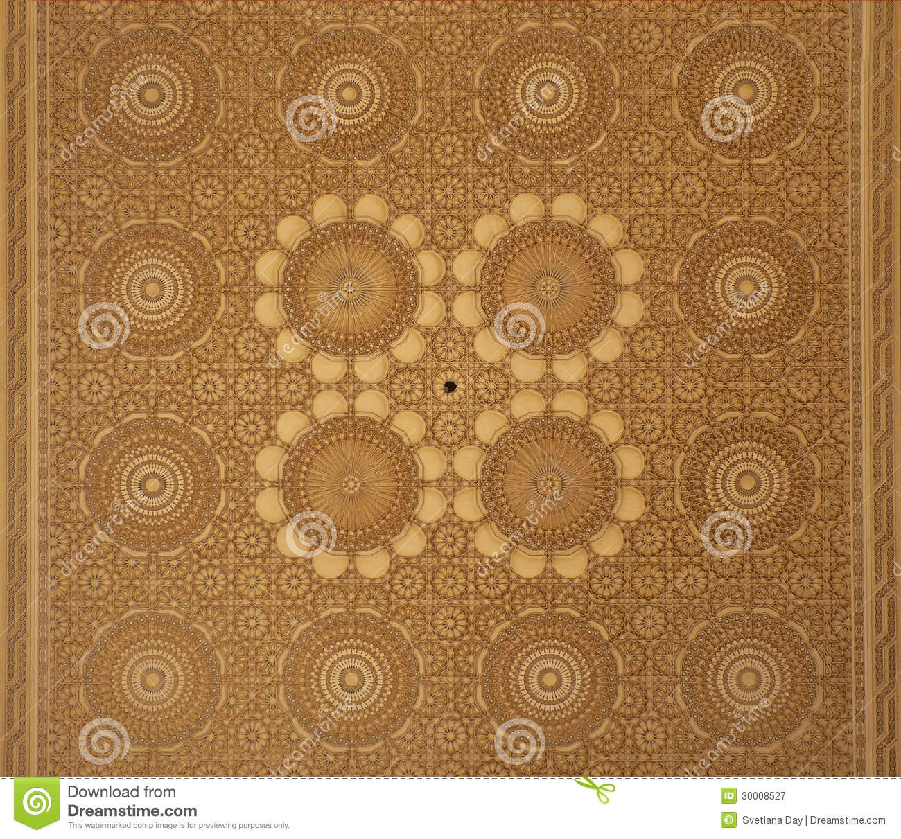 Moroccan arabesque design ceiling stock image image of for Arabesque style decoration