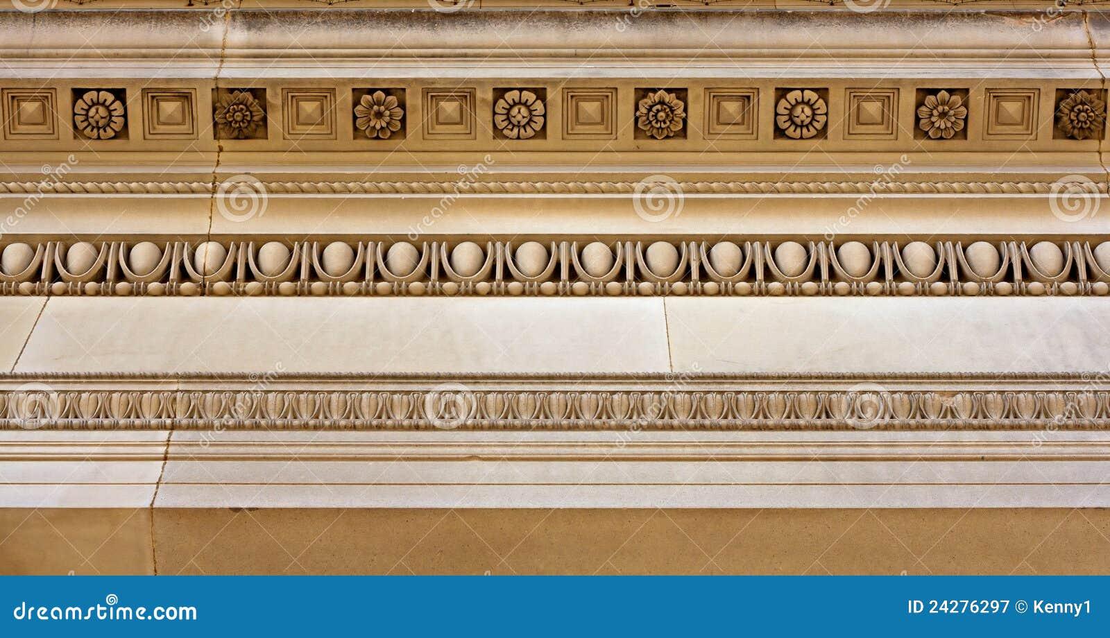 Intricate Sandstone Cornice Work Stock Image Image Of