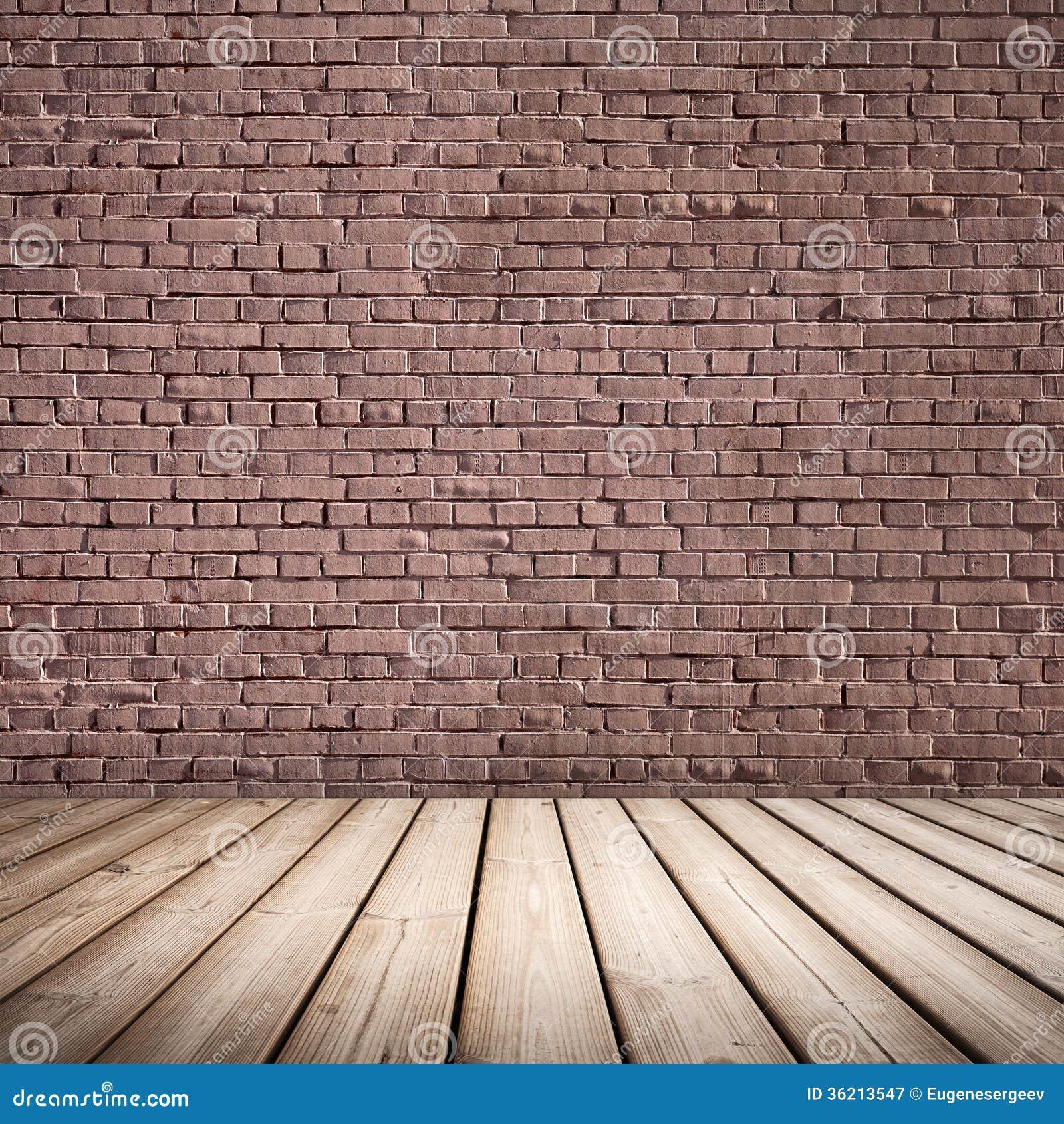 int rieur abstrait plancher et mur de briques en bois photographie stock libre de droits. Black Bedroom Furniture Sets. Home Design Ideas