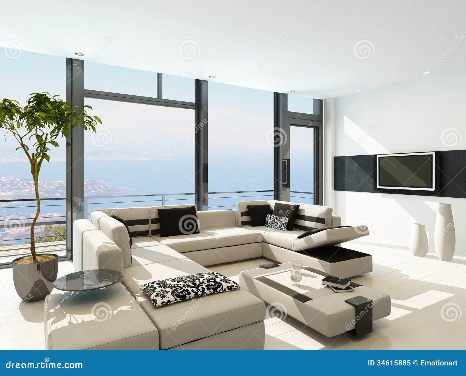 Deco cuisine maison de famille - Decoration salon moderne blanc ...