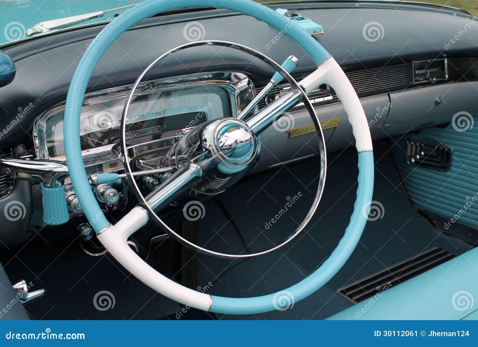 Int rieur classique am ricain de voiture image stock for Interieur de voiture