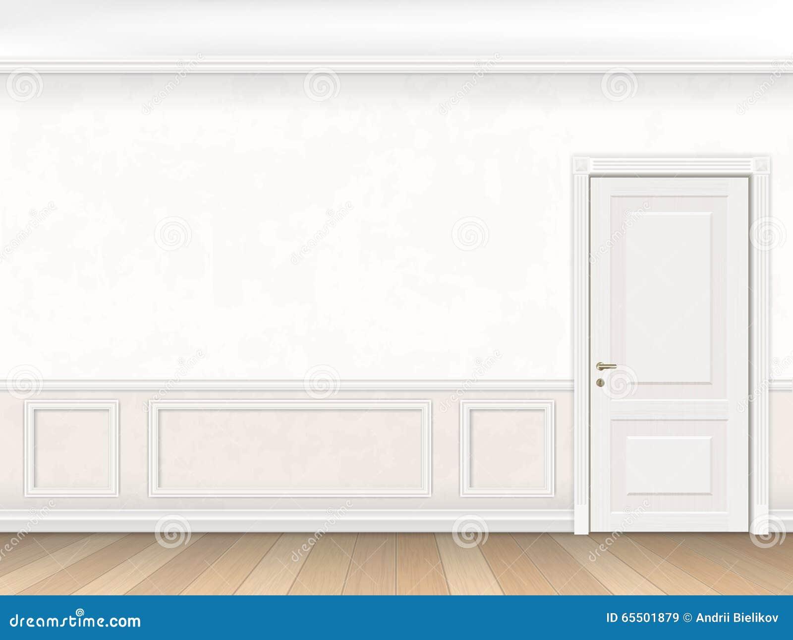 Int rieur classique dans la couleur blanche avec la porte for Porte classique interieur
