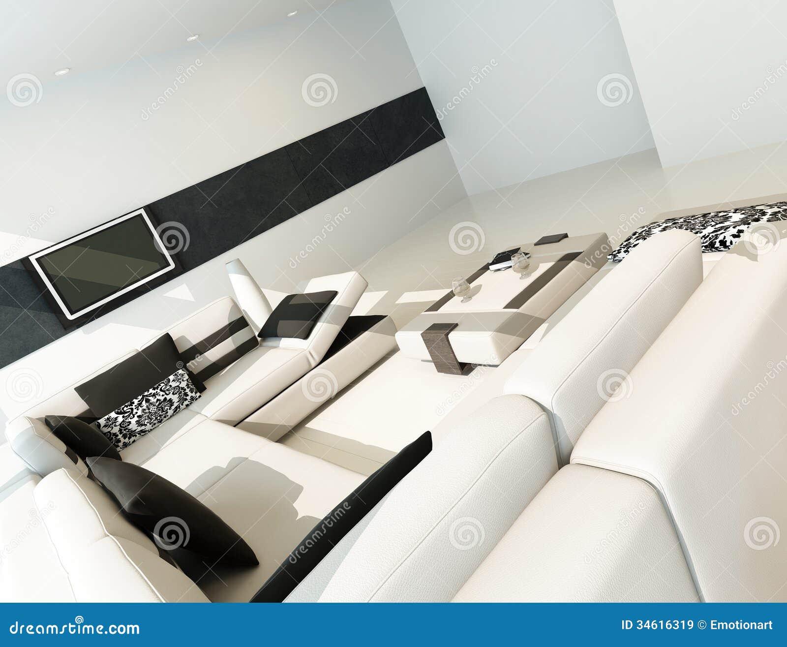 int rieur contemporain de luxe moderne de salon images libres de droits image 34616319. Black Bedroom Furniture Sets. Home Design Ideas