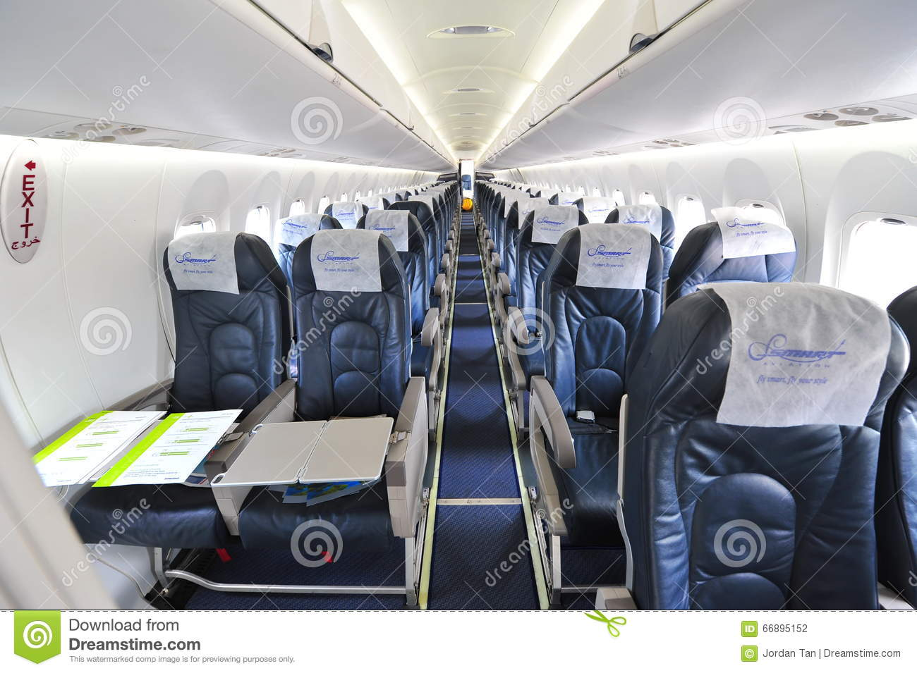 Int rieur d 39 avion de turbopropulseur de nextgen du for Interieur d avion air france