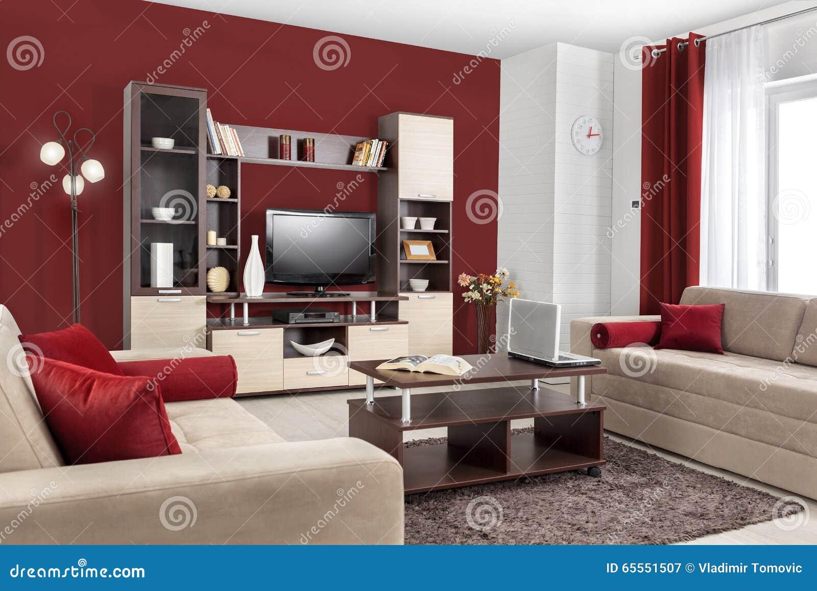Intérieur D'un Salon Moderne En Couleurs Photo stock - Image: 65551507