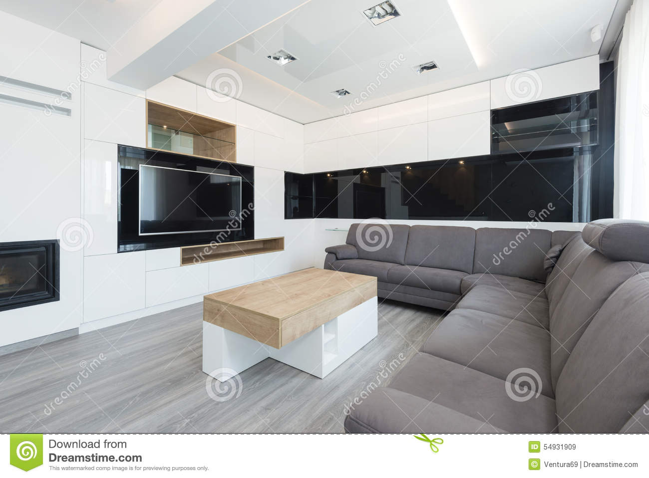 Int rieur de beau salon moderne photo stock image 54931909 for Interieur salon moderne