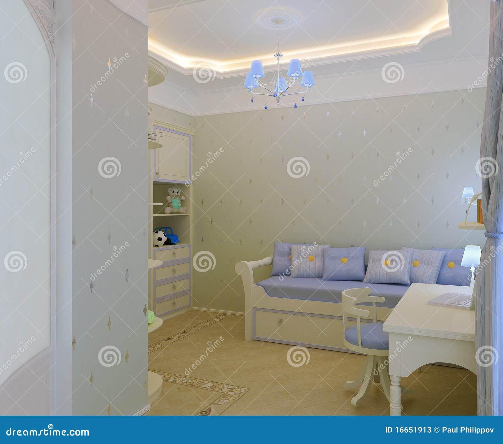 Intérieur de chambre à coucher du `s d'enfant photos stock   image ...
