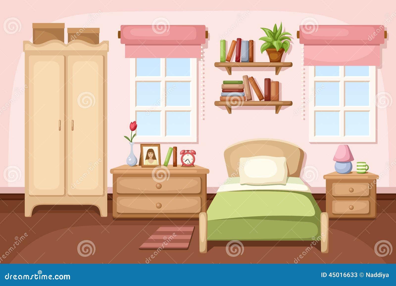 int rieur de chambre coucher illustration de vecteur