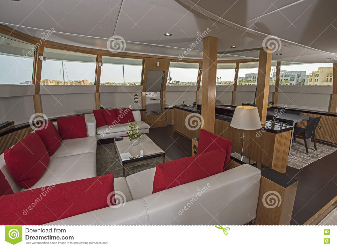 int 233 rieur de grand secteur de salon de yacht de luxe de moteur photo stock image 70755448