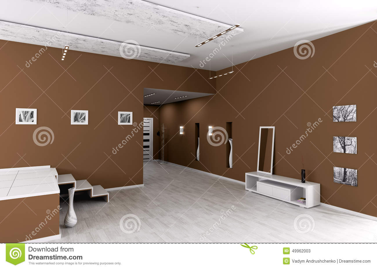 int rieur de hall d 39 entr e moderne illustration stock image 49962003. Black Bedroom Furniture Sets. Home Design Ideas