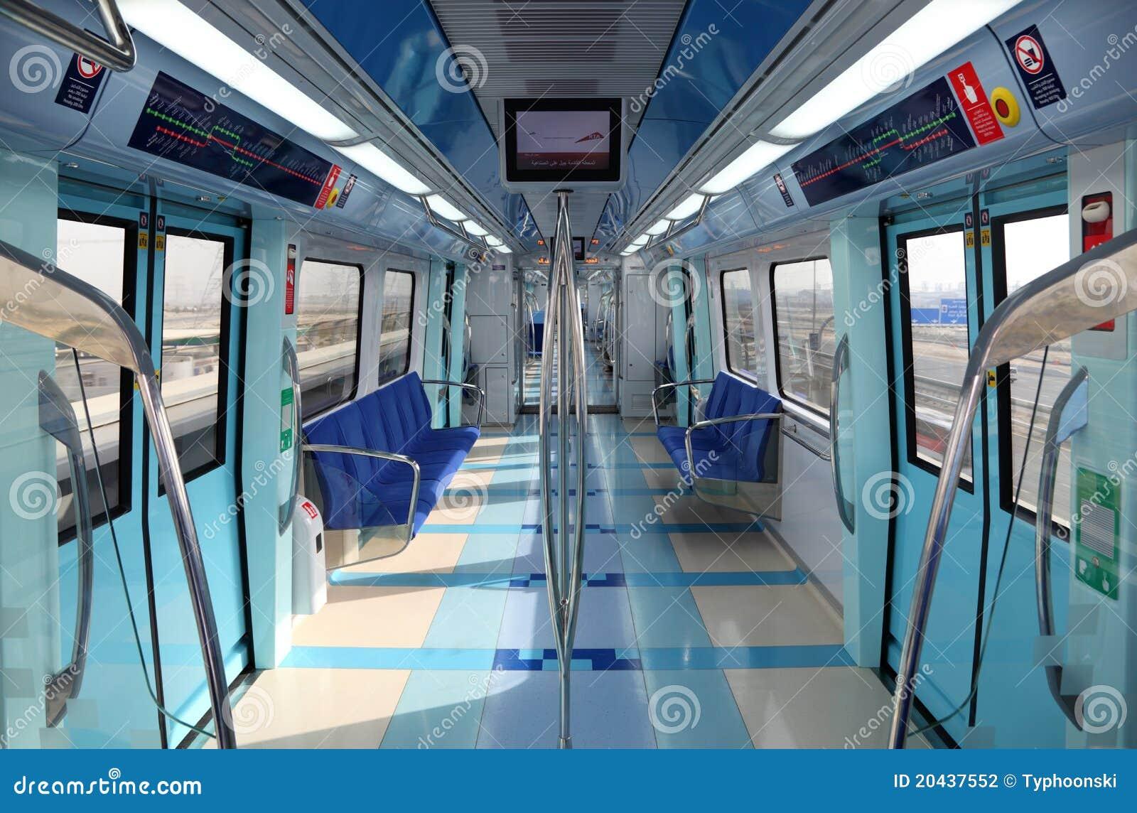 Int rieur de la m tro neuve de duba photographie for Metro interieur
