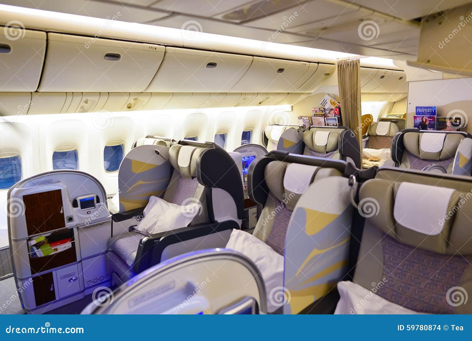 Int rieur de la premi re classe boeing 777 d 39 mirats image for First class 8 interieur