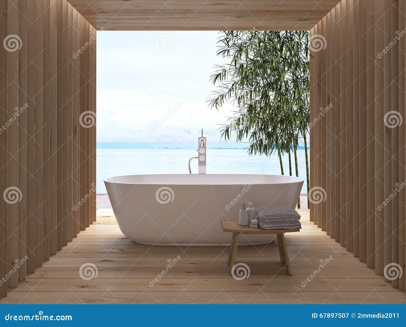 Intérieur de luxe moderne de salle de bains rendu 3d illustration ...