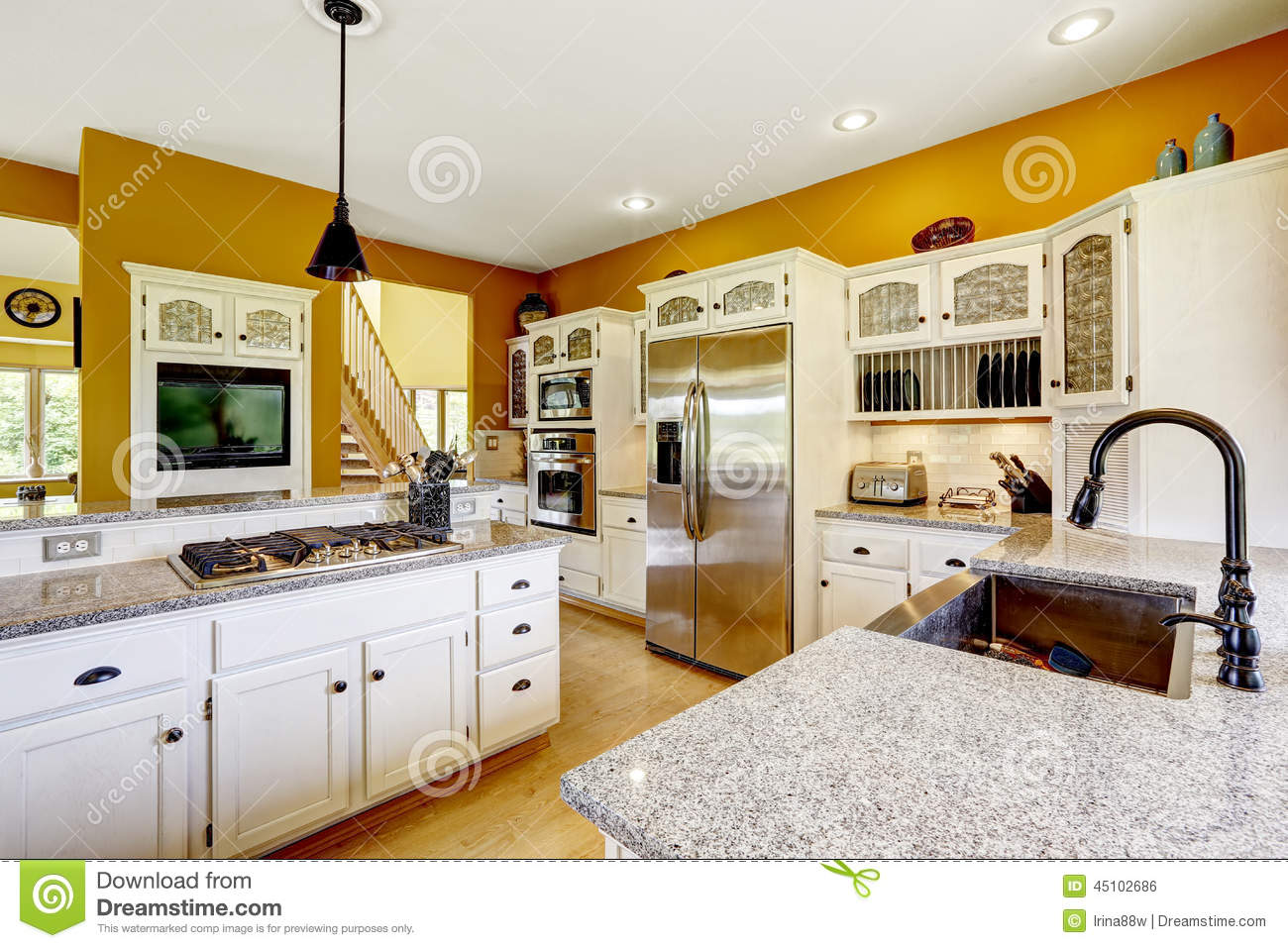 Photo Interieur De Maison Of Int Rieur De Maison De Ferme Int Rieur De Luxe De Pi Ce De Cuisine Photo Stock Image 45102686