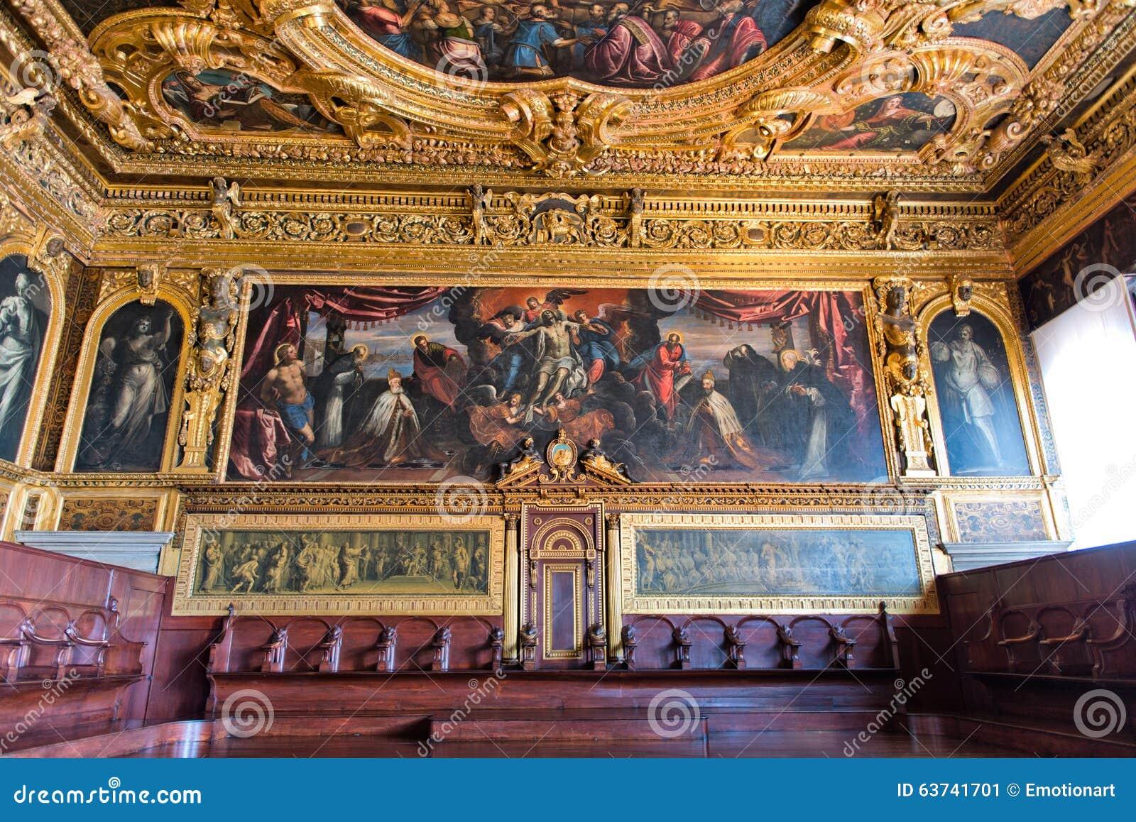 Int rieur de palais des doges venise italie photo for Le for interieur