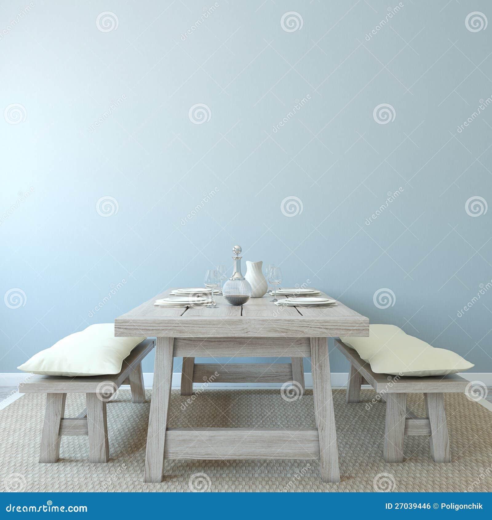 Int rieur de salle manger image libre de droits image for Salle a manger 3d