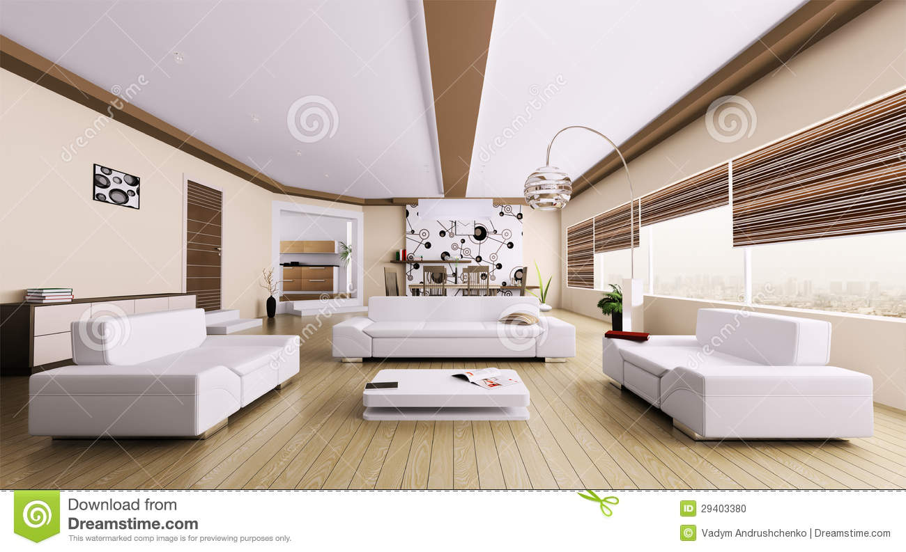 Int rieur de salon moderne photo stock image 29403380 - Photos de salon moderne ...
