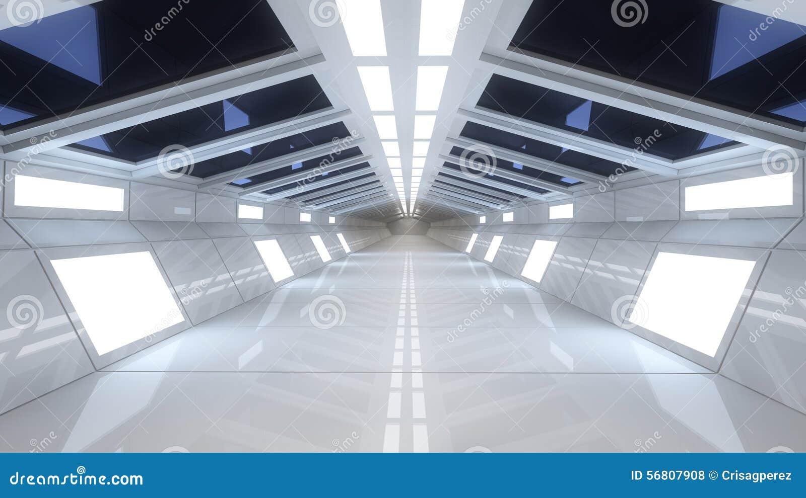 int rieur de vaisseau spatial vue centrale avec le plancher illustration stock image 56807908. Black Bedroom Furniture Sets. Home Design Ideas