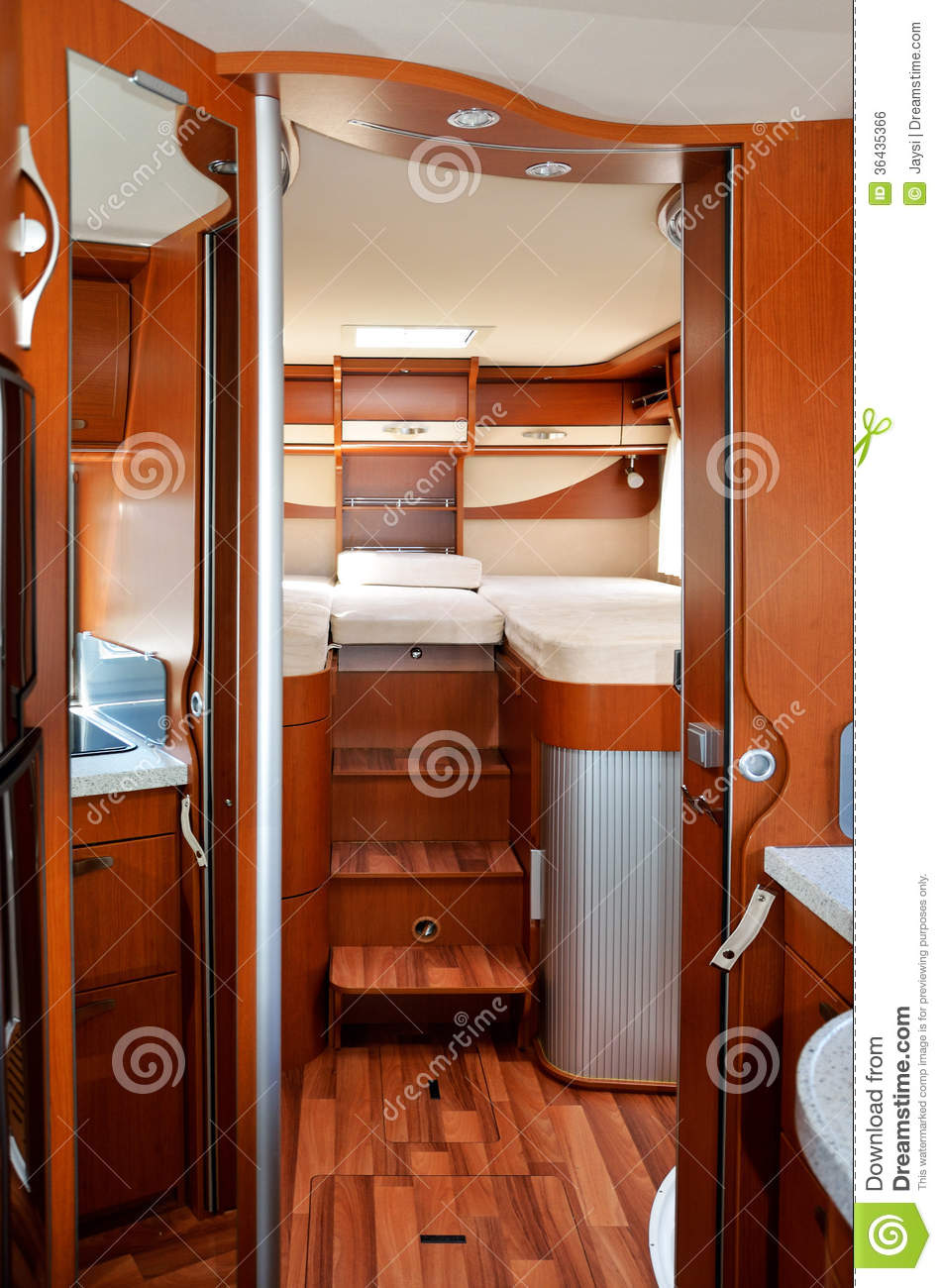 int rieur du campeur rv motorhome caravane image libre de droits image 36435366. Black Bedroom Furniture Sets. Home Design Ideas