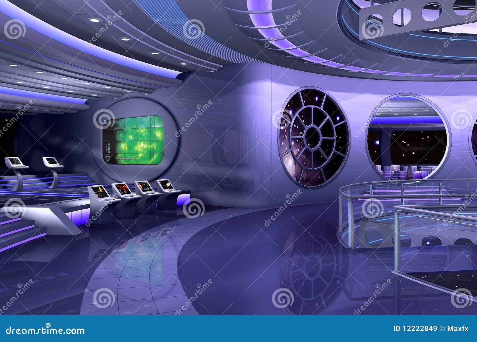 Int rieur du vaisseau spatial 3d images libres de droits for Interieur vaisseau spatial