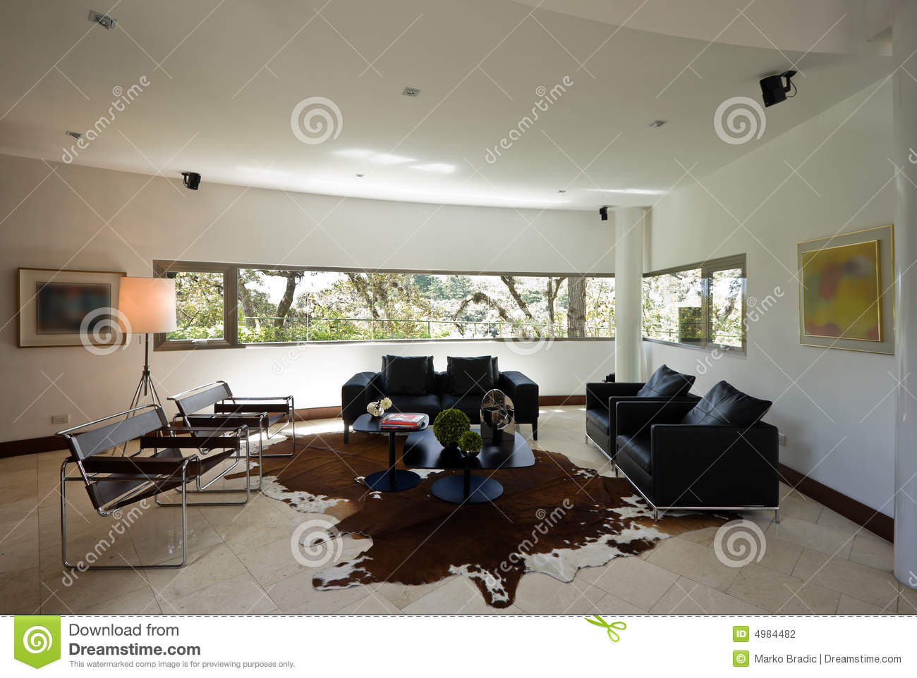 Int rieur la maison moderne photographie stock image - Photo maison contemporaine interieur ...