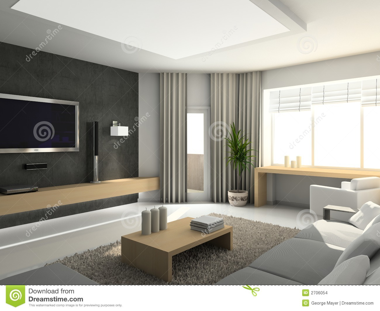Int rieur moderne images stock image 2706054 for Decoration interieur de maison contemporaine
