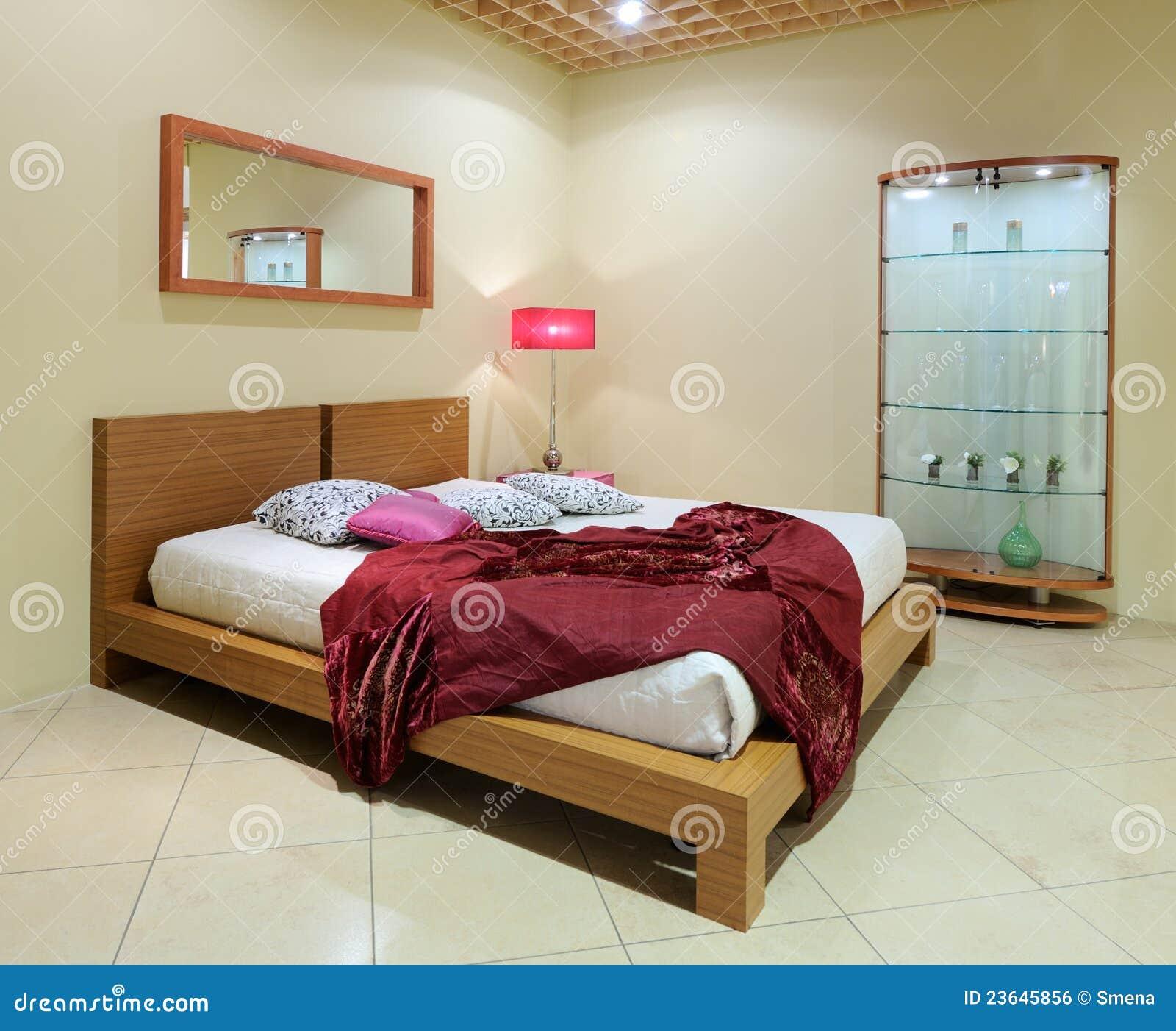Intérieur moderne. chambre à coucher. image libre de droits ...