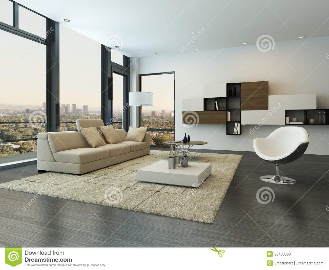 int rieur moderne contemporain de salon photos stock image 36433563. Black Bedroom Furniture Sets. Home Design Ideas
