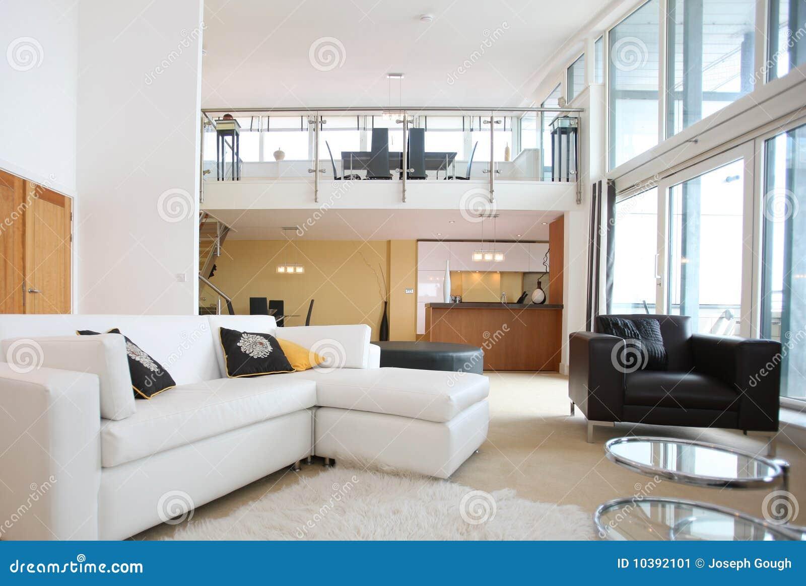 int rieur ouvert moderne d 39 appartement de plan image stock. Black Bedroom Furniture Sets. Home Design Ideas