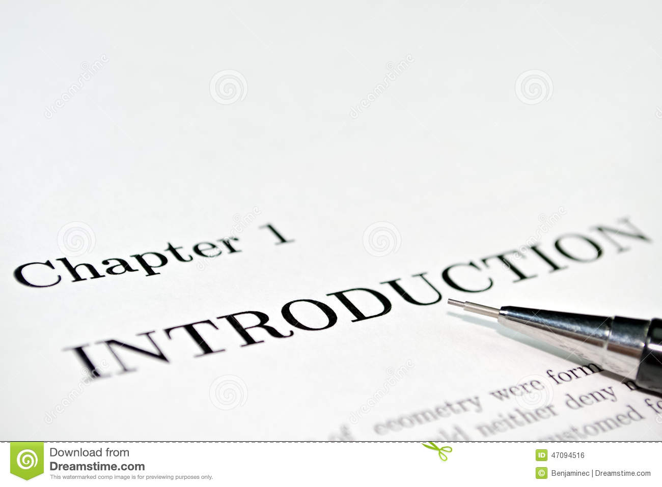 Introductory words at the beginning of a professional paper.: www.dreamstime.com/stock-photo-introduction-introductory-words...