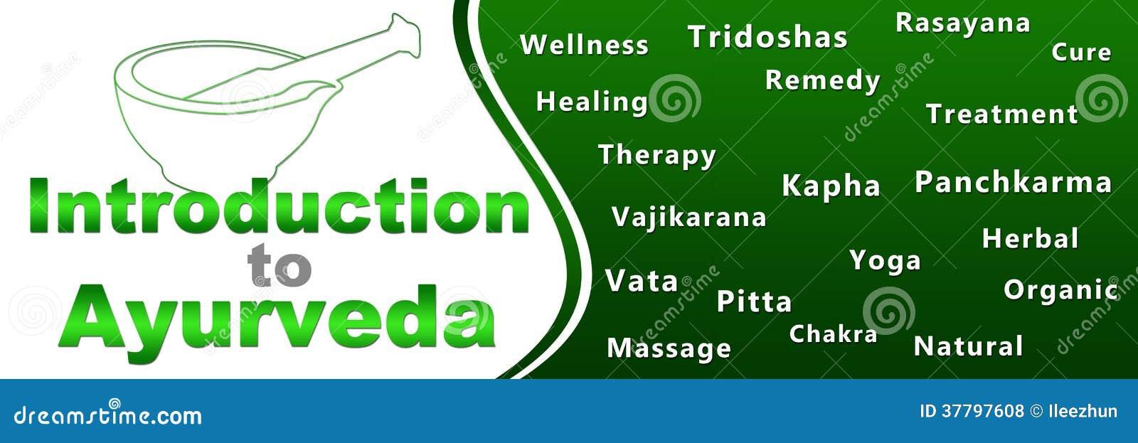 Introduction To Ayurveda Geen Keywords Banner Stock Illustration Illustration Of Image Natural 37797608
