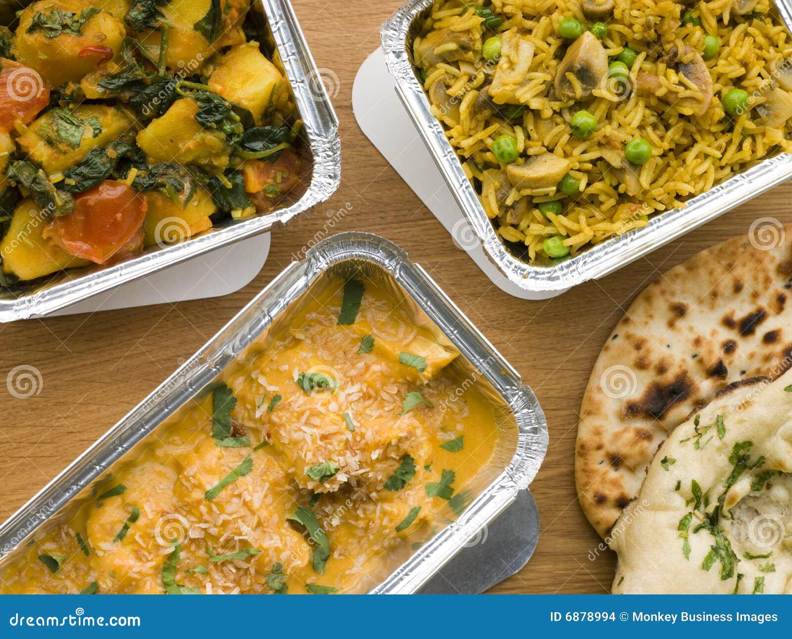 Introito indiano di selezione dei piatti assenti